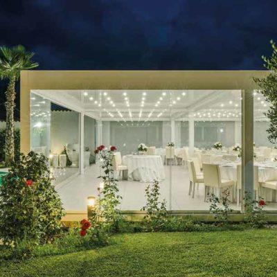 giardini d'inverno a Brescia, Furnari Tendaggi, Tende esterni